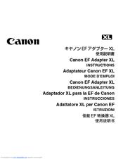 canon ef adapter xl manuals rh manualslib com