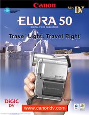 canon elura 50 manuals rh manualslib com Canon Camcorder Elura 80 Canon Elura 40 Transfer Cables
