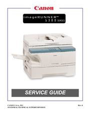CANON IMAGERUNNER 1300 SERIES SERVICE MANUAL Pdf Download