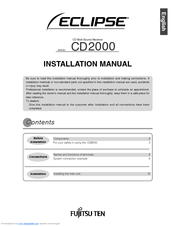Fujitsu ECLIPSE CD2000 Installation Manual