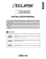 Fujitsu ECLIPSE CD3000 Installation Manual