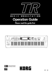 Korg TR music workstation Operation Operation Manual