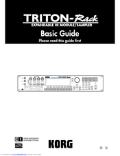 Korg Triton-Rack Basic Manual