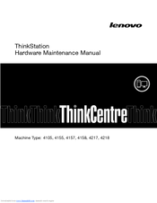 Lenovo ThinkStation 4217 Hardware Maintenance Manual