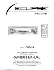 Fujitsu ECLIPSE CD3424 Owner's Manual