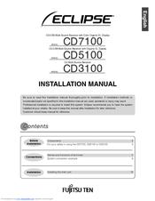 Eclipse ECLIPSE CD7100 Manuals on fujitsu heat pump service manual, fujitsu ten amplifier wire diagram, fujitsu thermostat, fujitsu parts breakdown, fujitsu ten toyota jbl wiring 1998, basic speaker diagram,