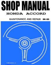 honda accord repair manual pdf
