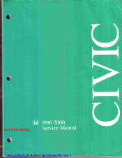 honda civic service manual pdf download rh manualslib com 1996 honda civic repair manual download honda civic repair manual years 1996 to 2000