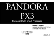 KORG Toneworks Pandora PX3 Owner's Manual