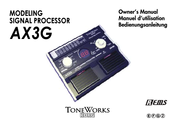 KORG Toneworks AX3G Owner's Manual