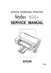 epson stylus 800 manuals rh manualslib com epson stylus photo 820 manual epson stylus color 800 service manual