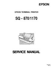 epson sq 870 sq 1170 terminal printer service repair manual