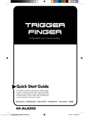 M-Audio Trigger Finger Quick Start Manual