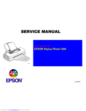 Epson Perfection 1200PHOTO Service Manual