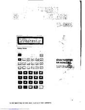 Radio Shack EC-4004 Owner's Manual