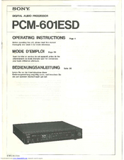 Sony PCM-601ESD Operating Instructions Manual