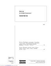 atlas copco xahs186 dd manuals rh manualslib com Atlas Copco BD-700 Manual Atlas Copco Parts List