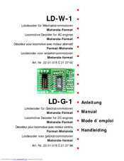 Motorola LD-G-1 Manual