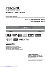 Hitachi DV-DS163E/UK Instruction Manual