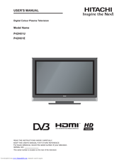 hitachi p42h01u user manual pdf download rh manualslib com