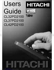 hitachi cl32pd2100 cl37pd2100 cl42pd2100 manuals rh manualslib com Quick Reference Guide Word Manual Guide