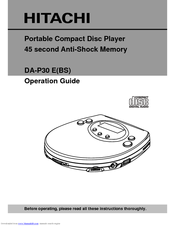 Hitachi DA-P30 E Operation Operation Manual