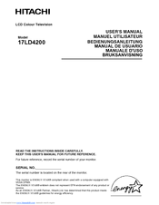 Hitachi 17LD4200 User Manual