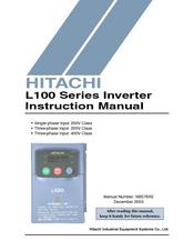 hitachi l100 series instruction manual pdf download rh manualslib com Operators Manual Owner's Manual