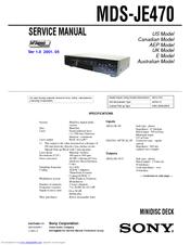 sony je480 manual