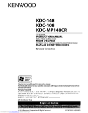 kenwood kdc 108 instruction manual pdf download rh manualslib com