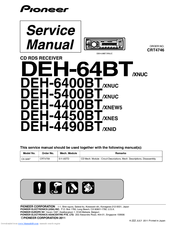PIONEER DEH-5400BT SERVICE MANUAL Pdf Download | ManualsLibManualsLib