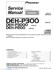 pioneer deh p300 service manual pdf download rh manualslib com