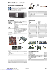 HP RP3 Illustrated Parts & Service Map
