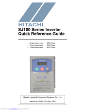 hitachi sj100 series manuals rh manualslib com Hitachi Inverter Board Hitachi L100 Inverter