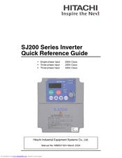hitachi sj200 series manuals rh manualslib com hitachi wj200 vfd manual hitachi wj200 inverter user manual