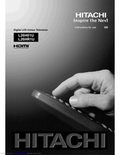 Hitachi L26H01U Instructions For Use Manual