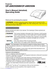 Hitachi CP-AW250N Operating Manual
