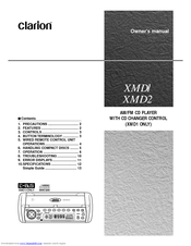 clarion xmd2 manuals. Black Bedroom Furniture Sets. Home Design Ideas