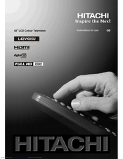 Hitachi L42VT 0 Instructions For Use Manual