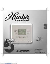 hunter 44132 owner s manual pdf download rh manualslib com Hunter Programmable Thermostat Manuals 44550 Hunter Programmable Thermostat Manuals 44550