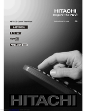 Hitachi L46VN05U Instructions For Use Manual