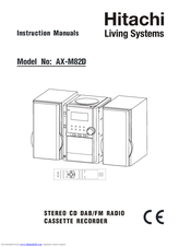 Hitachi AX-M82D s Instruction Manuals