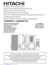 hitachi axm89mp3uk operating instructions manual pdf download rh manualslib com