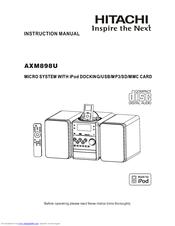 hitachi axm898u manuals rh manualslib com