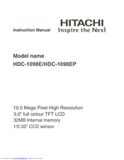 Hitachi HDC-1098E Instruction Manual