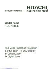 Hitachi HDC-1086E Instruction Manual