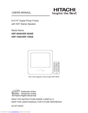 Hitachi HDF-8040E User Manual