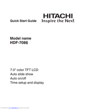 Hitachi HDF-7086 Quick Start Manual