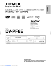 Hitachi DV-PF6E Instruction Manual