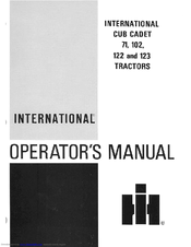 cub cadet snow blower attachment instruction manual